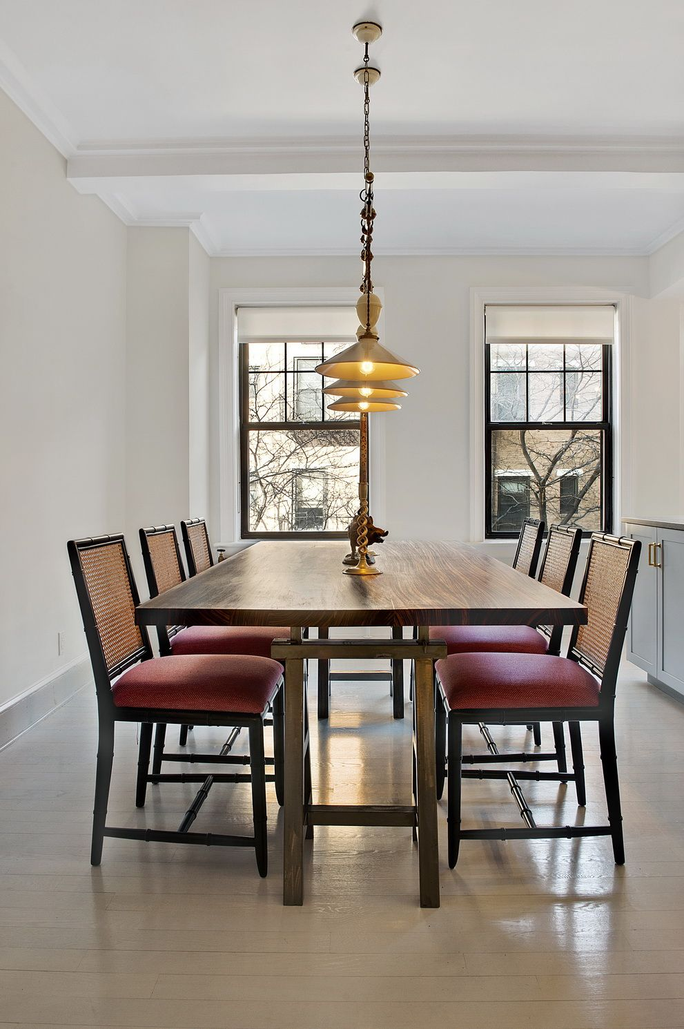 East Village: Camilla House Table, Bungalow 5 Chairs, Farrow And Ball  Cabbage White