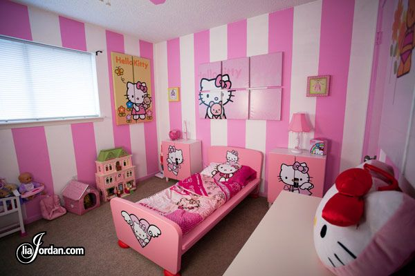 Maybe Stripes On Just One Wall Hello Kitty Room