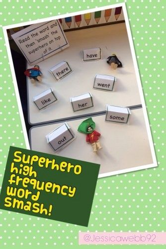 Superhero HF word smash! | Phonics activities