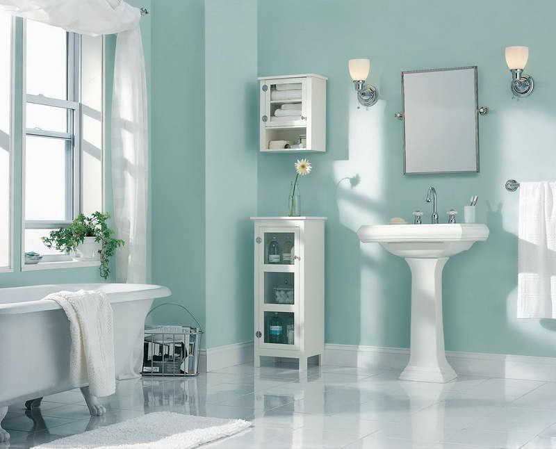 The Cheerful Bathroom Color Ideas Snails View Small Bathroom