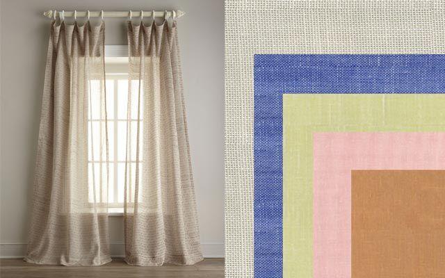 estampadas lisas en dos o en ms colores en tejidos de lino o de lonetalas posibilidades para las cortinas de verano son mltiples - Cortinas Lino