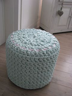 We Love All The Options For Poufs Made With Zpagetti Crochet For