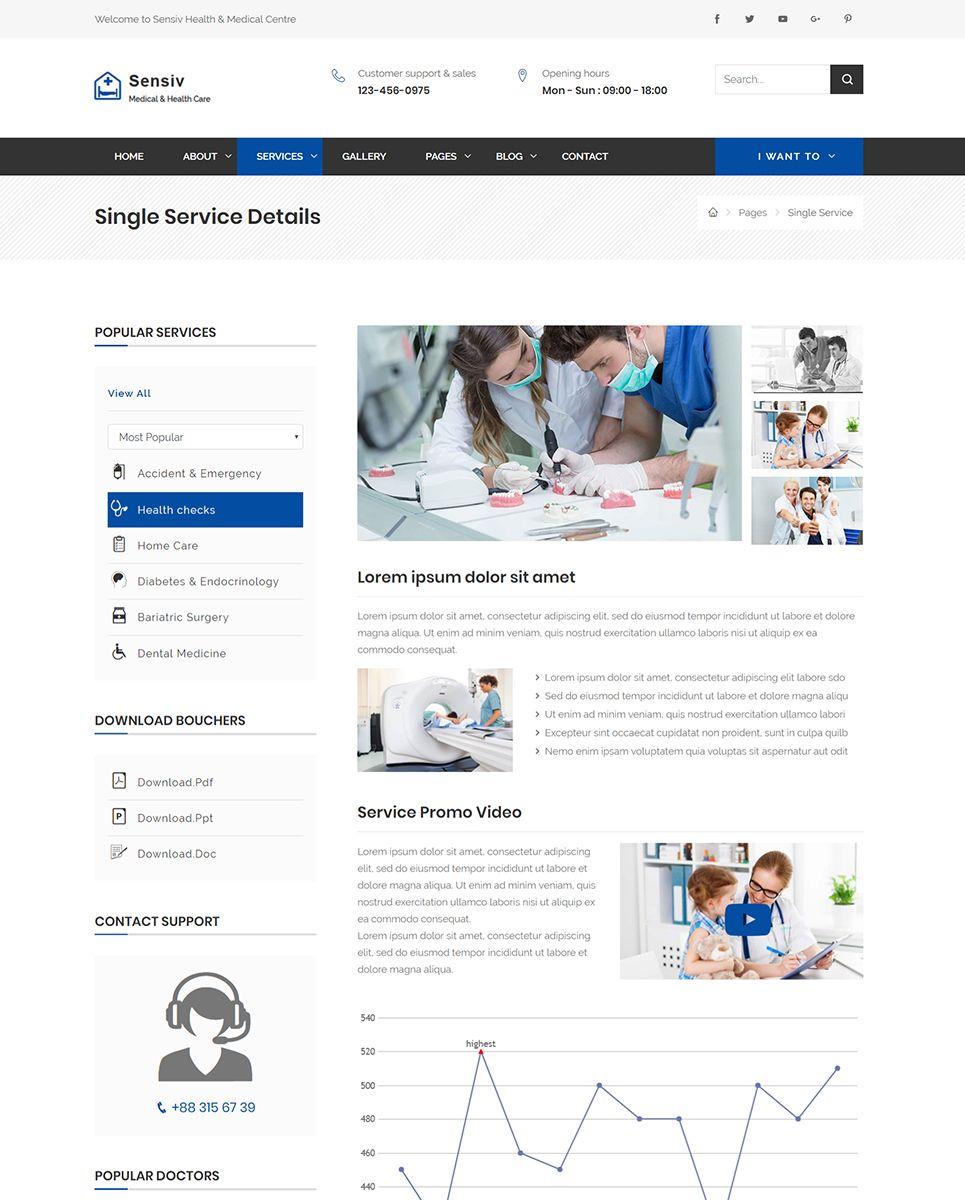 Sensiv Responsive Health And Medical Website Template