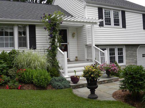 Split Foyer Front Porch Designs : Image result for split level home front yard landscaping