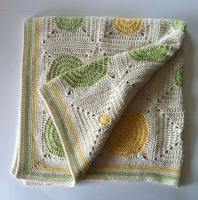 Ravelry: Dotty Spotty Baby Blanket pattern by Shelley Husband