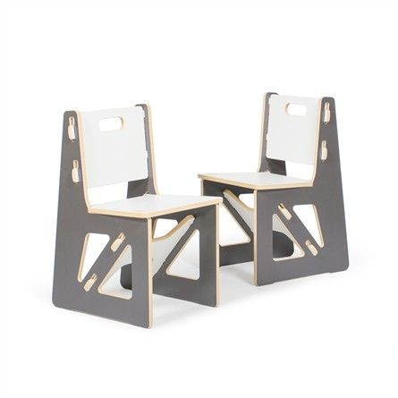 These modern kids  chairs are not your traditional chairs. Modern Grey and White Kids Chair Set   Traditional  Kid and Chairs