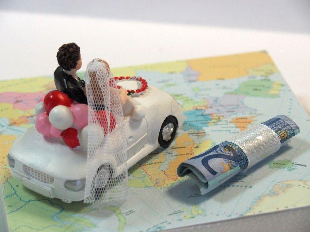 Geldgeschenk Verpackung Hochzeit Hochzeitsreise Honeymoon Auto