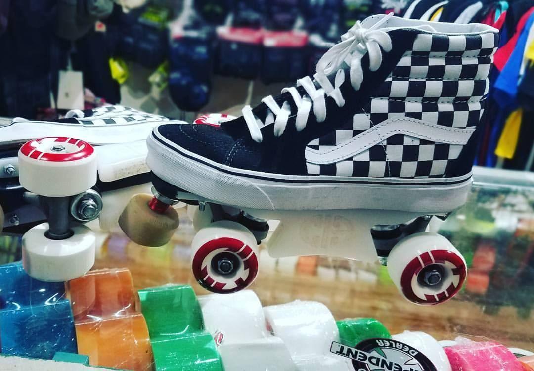 0a214b092a15 A Park set up using Vans Sk8-Hi sneakers