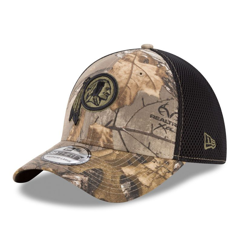 bf302eae Washington Redskins New Era Neo 39THIRTY Flex Hat - Realtree Camo ...