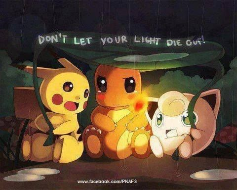 This is so adorable. Look at Charmander's cheeks. Just. Look. Aww.