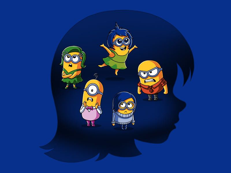 2af057a7 Thought you'd like this Minion/Inside Out mashup | Cartoons and ...