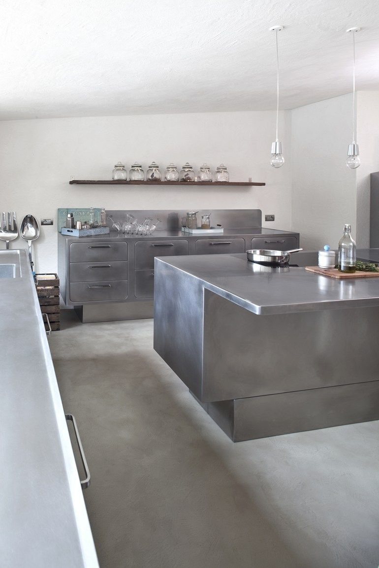 Professional Stainless Steel Kitchen Ego By Abimis Metal Kitchen Cabinets Kitchen Styling Modern Steel Kitchen Cabinets