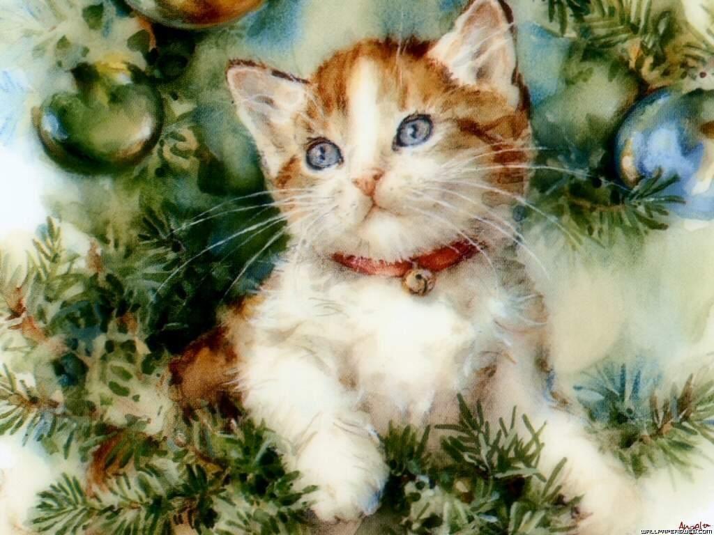 Vintage Kitty Christmas Cards Christmas Cats Christmas Kitten Cat Christmas Cards