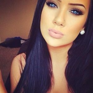 black hair blue eyed girl  google search  dark hair blue