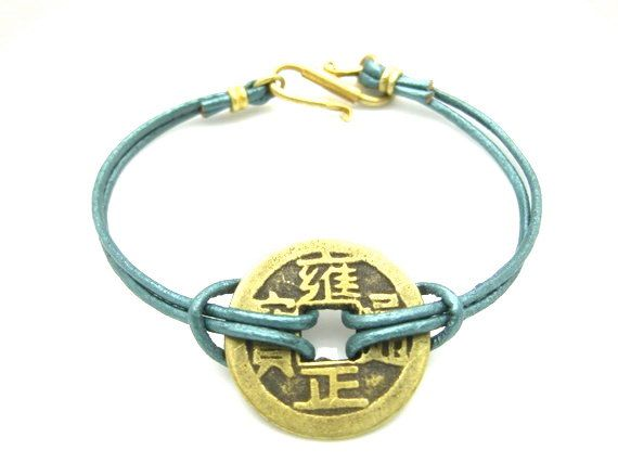 PROSPERITY Good Luck Bracelet Metallic Green Style No by zahavblue, $29.00