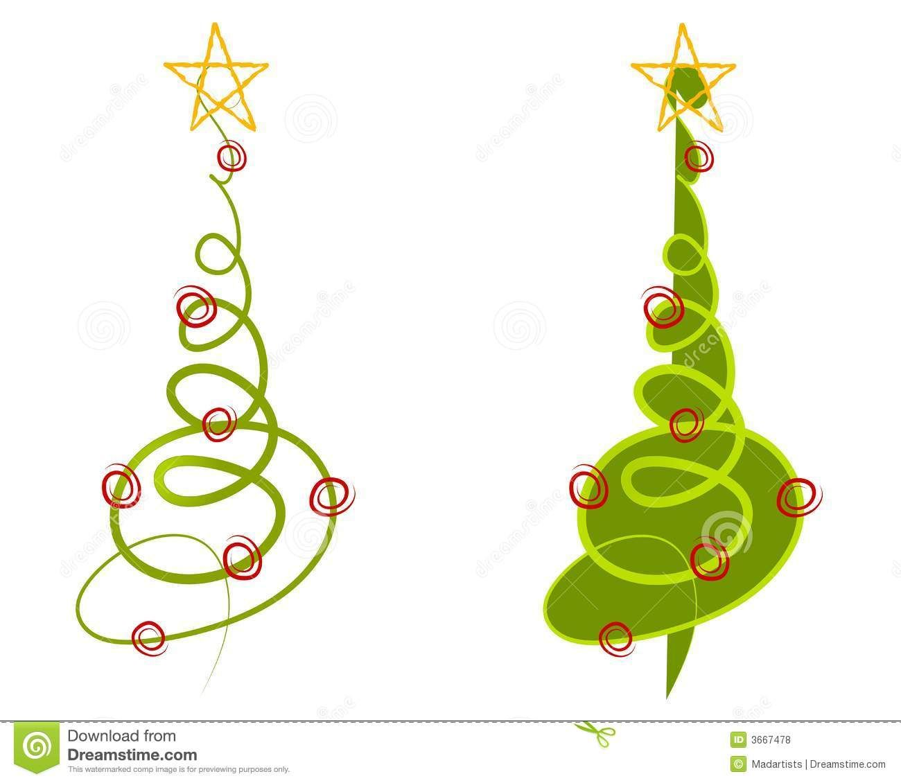 abstract christmas tree clip art royalty free stock photos. Black Bedroom Furniture Sets. Home Design Ideas