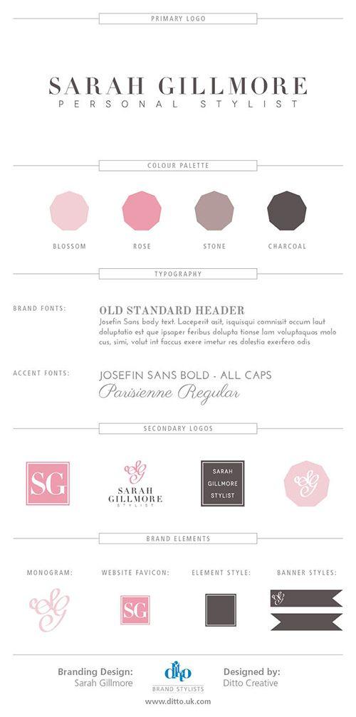 Brand board for Sarah Gillmore Personal Stylist - brand board by Ditto Brand Stylists, branding agency Kent