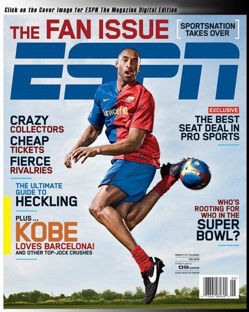 Kobe Bryan, el jugador de basket de la NBA es hincha del Barcelona ...