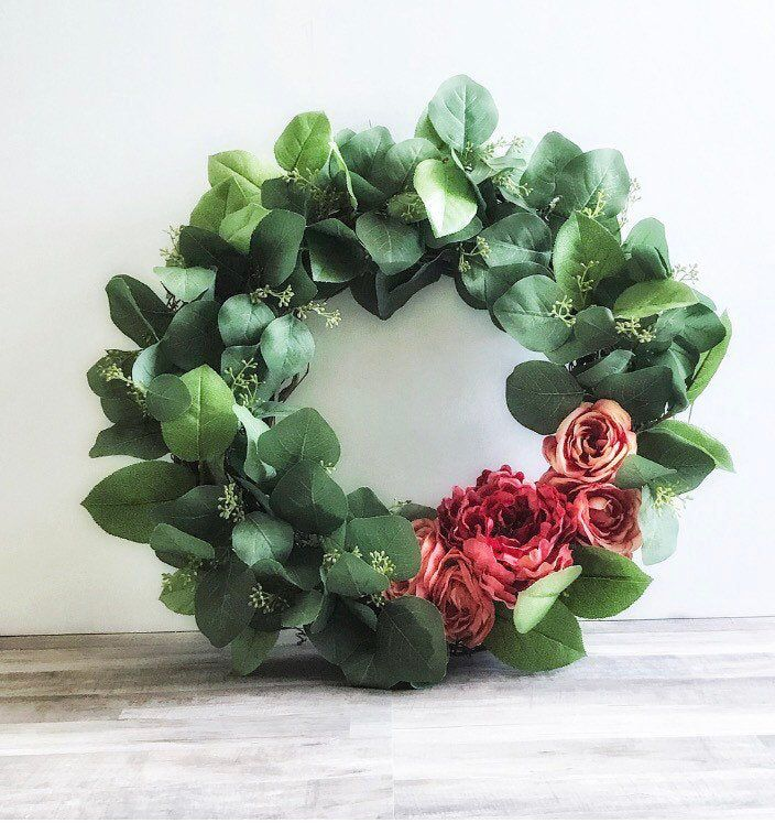 Photo of Wreaths for Year Round   Eucalyptus Wreath   Modern Wreath   Front Door Wreath   Porch Wreath   Large Wreaths