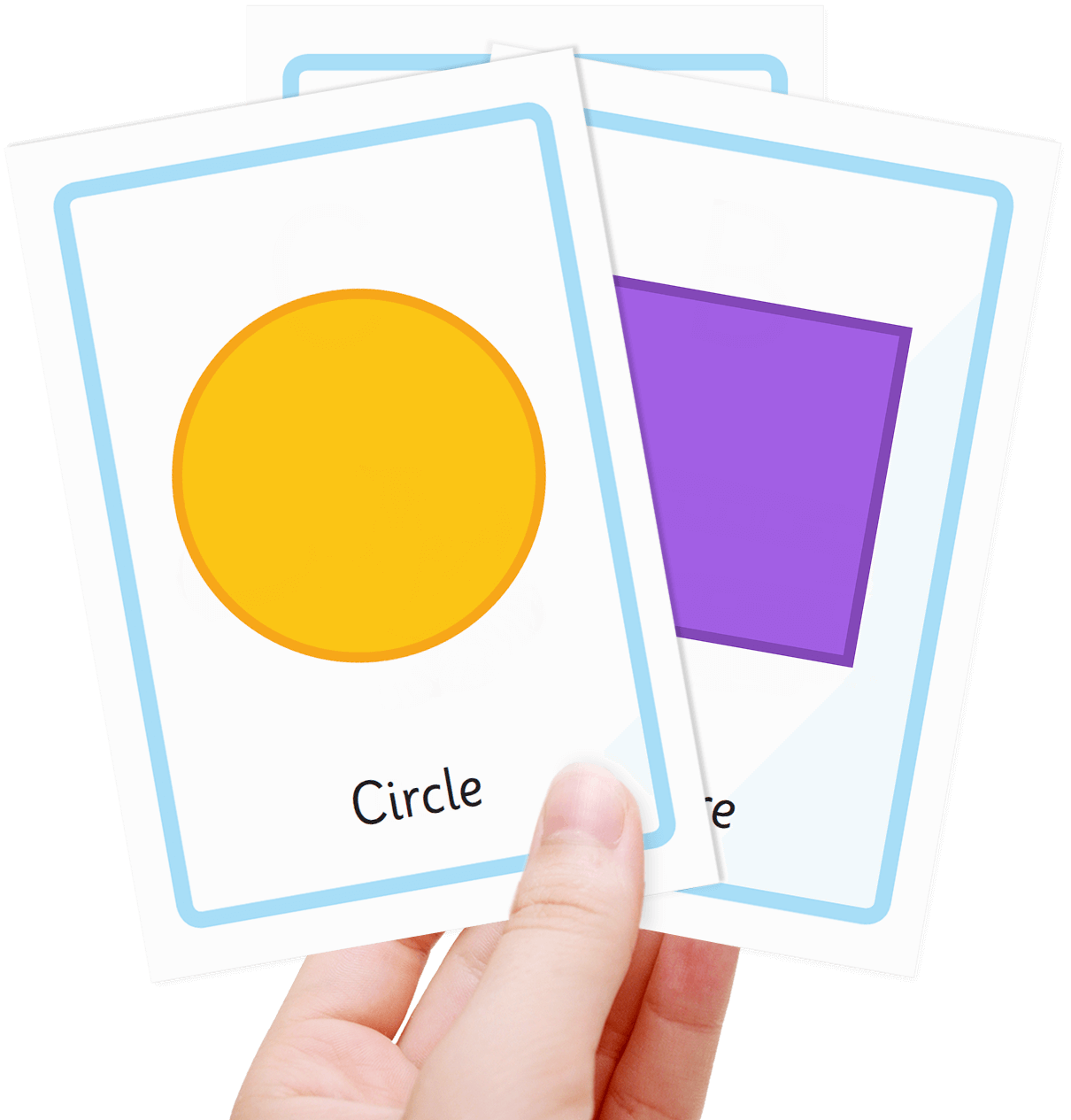 Free Shape Flash Cards Childcare Themes New Shapes