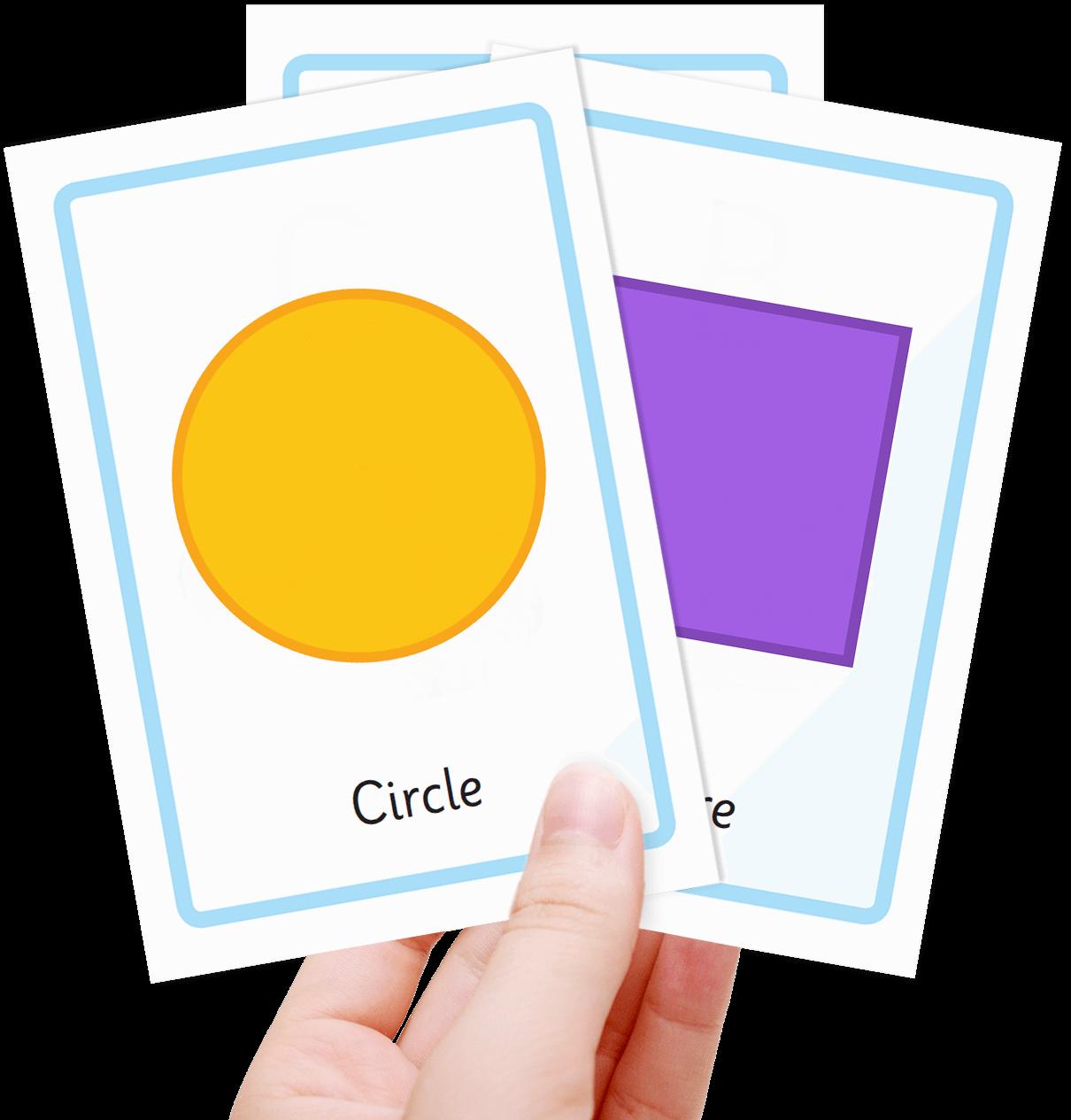 Free Shape Flash Cards