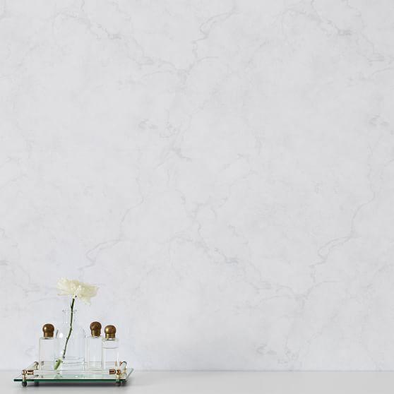 "Carrara Marble Peel and Stick NuWallpaper™, 20""x18"