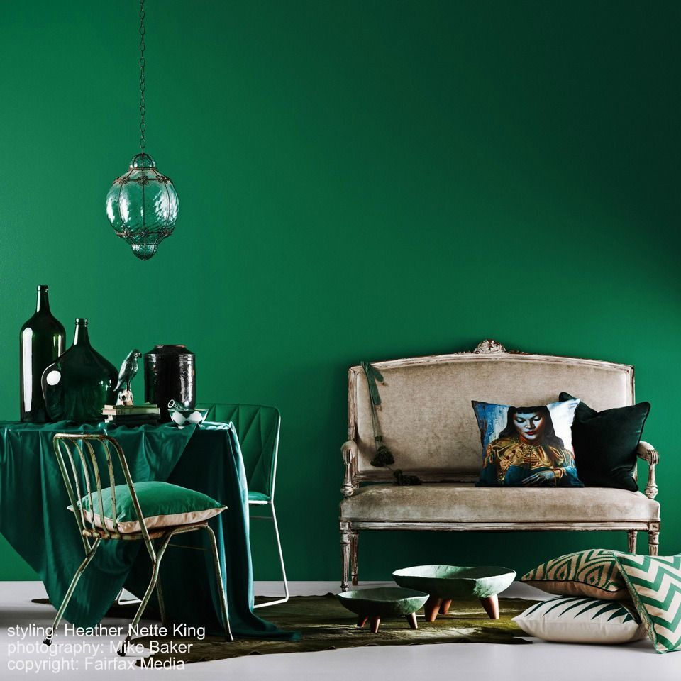 Image Result For Dulux Emerald Glade Green Bedroom Walls Green Dining Room Emerald Green Bedrooms