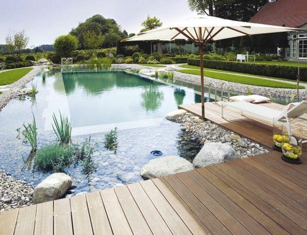 Garten Nachhaltige Moderne Designs Steine Garten Mobel Wasserpflanzen In 2020 Schwimmteich Gartenteich Natur Pool