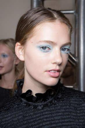 67c4e5a5cb54 Diane von Furstenberg - Blue Eye Makeup at SS16 - The Cut