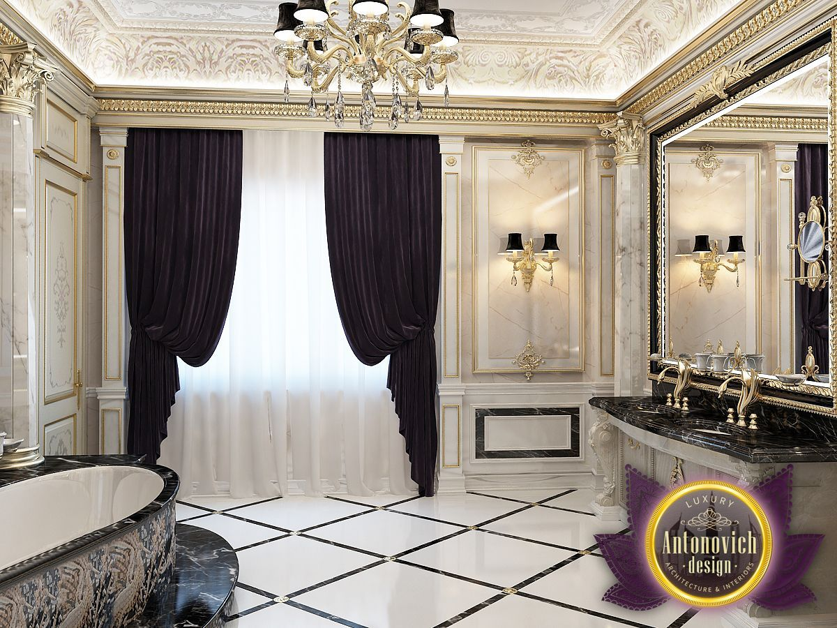 Classic bathroom interior design - The Bathroom Luxurious Interior In A Classic Style From The Luxury Antonovich Design With A Bright