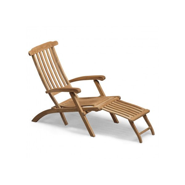 Skagerak Steamer Deck Chair - Teak ($1,099) ❤ liked on Polyvore featuring home, outdoors, patio furniture, outdoor chairs, garden patio furniture, outdoor patio chairs, outdoor patio furniture, teakwood patio furniture and outdoor garden furniture