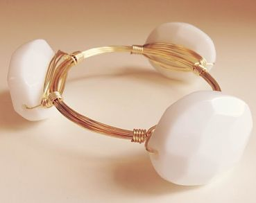 We can't get enough of this beautiful Beau bracelet! Each piece is lovingly made in the USA and only available at sweetbluegifts.com!