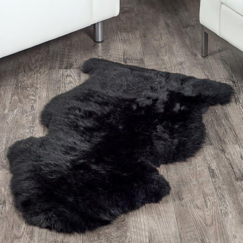 Black Sheepskin Rug 2x3 5 Ft Sheepskin Rug Black Faux Fur Rug Floor Rugs
