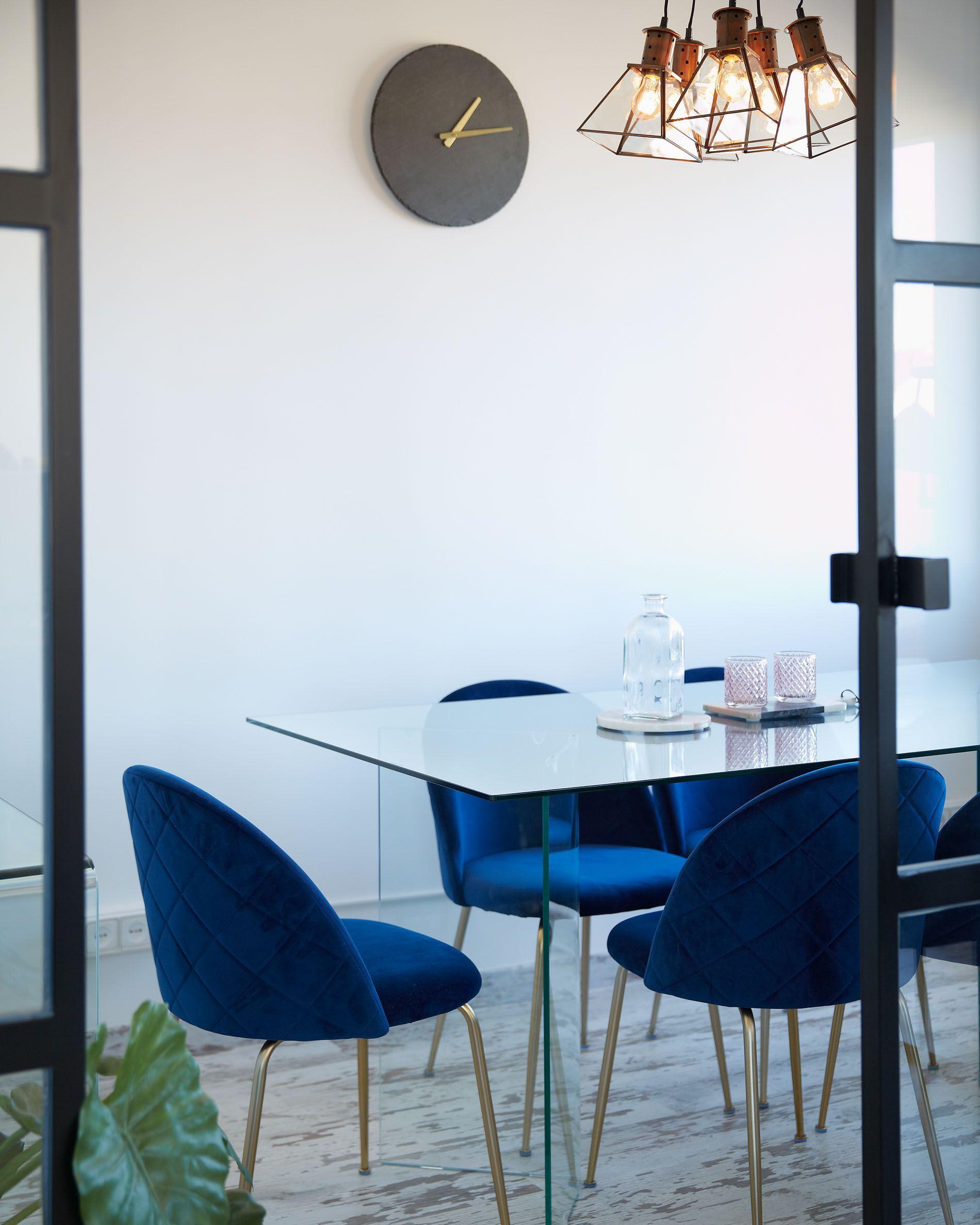 Sedia Ivonne velluto blu   Kave Home® nel 2020 (con ...