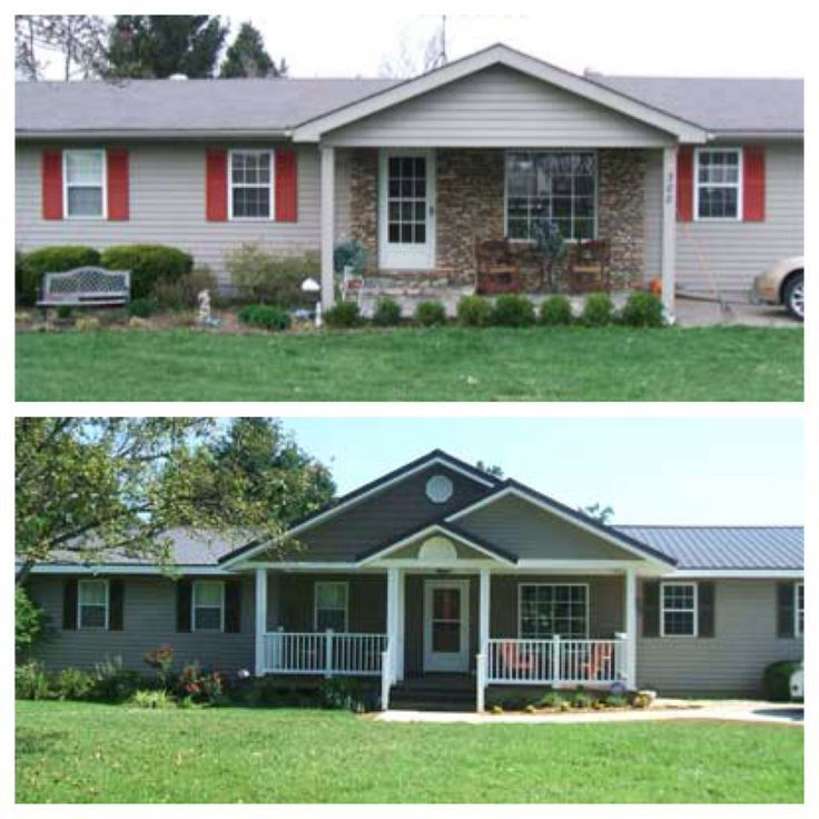 Gray and white ranch house google search before and for Exterior makeover ideas