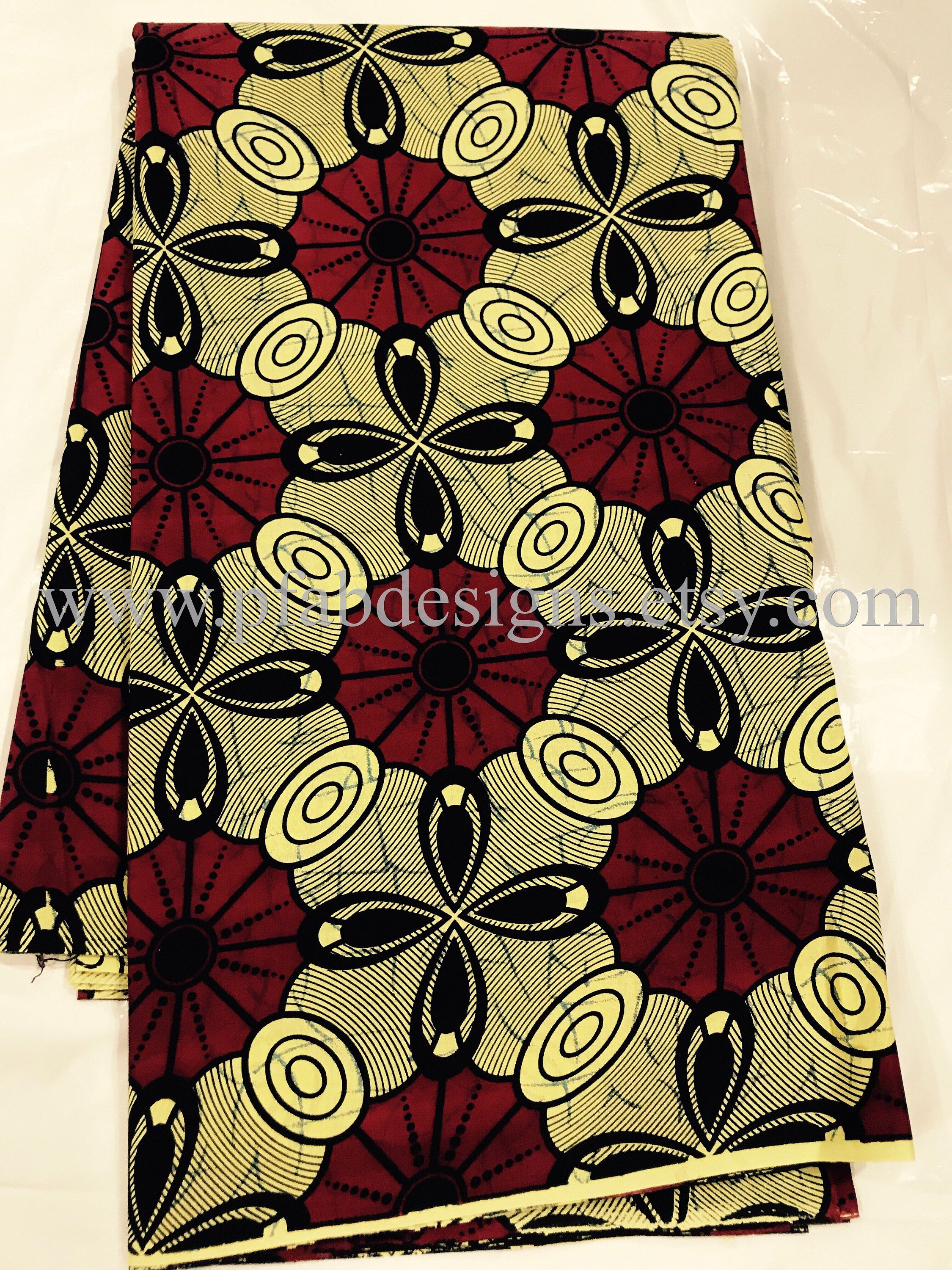 African Fabric Blocks Quality Wax African Fabric African Prints
