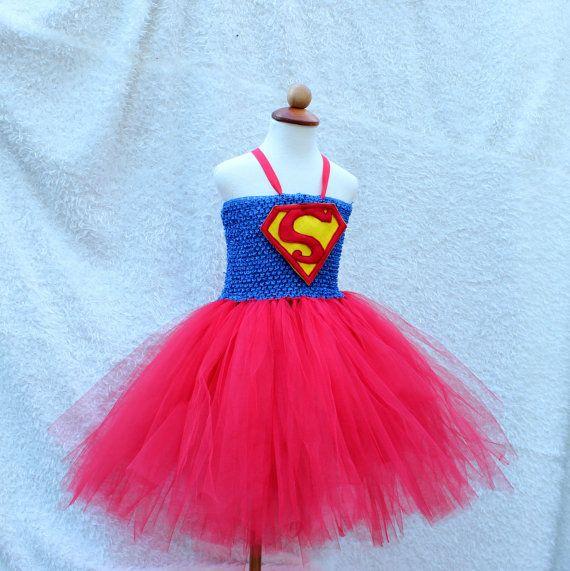 Supergirl tutu dress. Superhero costume for little by BloomsNBugs & Supergirl tutu dress. Superhero costume for little by BloomsNBugs ...