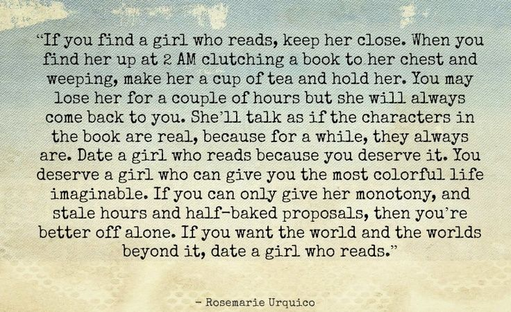 Don t date a girl who reads