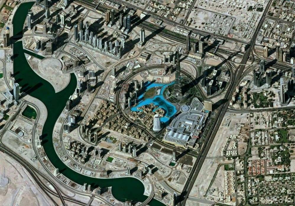 Dubai, desde el espacio.