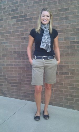 Teacher clothing blog from a teacher who goes a whole school year without shopping. She has a TON of clothes to start with but it gives great ideas about how to mix and match outfits