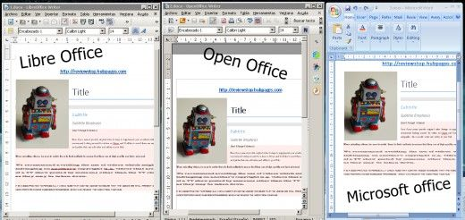 From left to right a document in libreoffice openoffice - Open office vs office libre ...