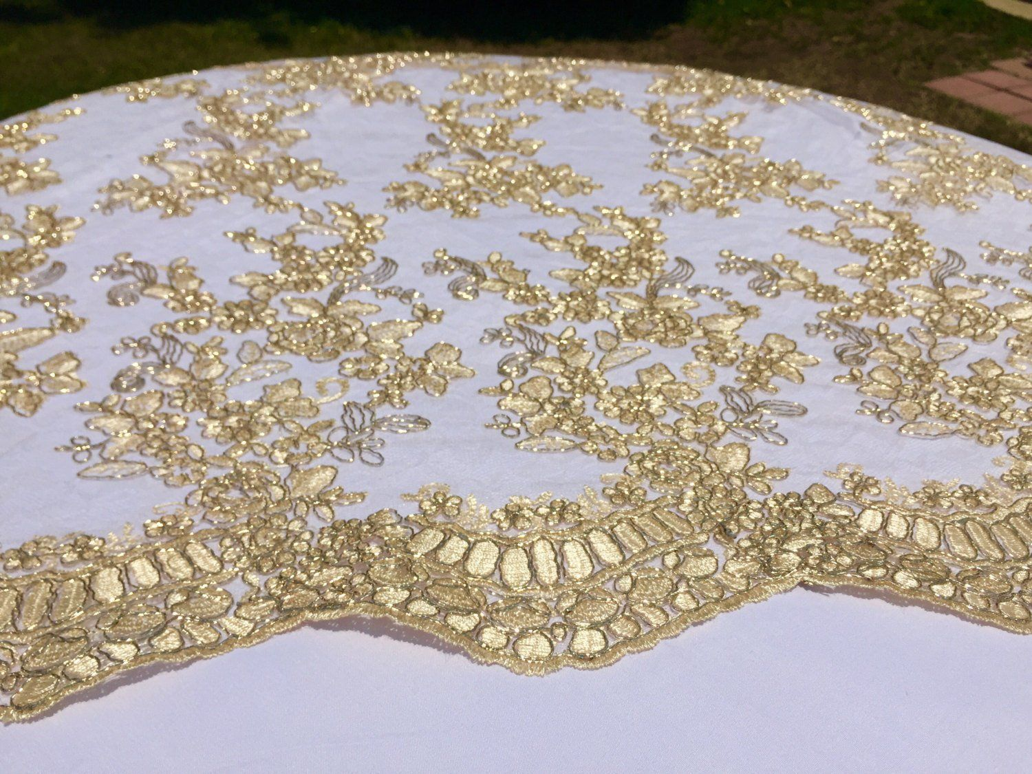 Gold Lace Tablecloth Gold Table Overlay Lace Table Overlay Table Overlay Table Runner Embroidered Gold Tablecloth Table Cloth Gold Tablecloth Table Overlays Gold Table