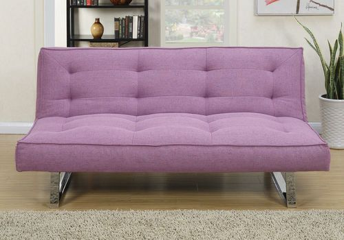 Poundex Purple Linen Futon Adjustable Sofa F6827 Futon Futon Sofa Futon Sofa Bed