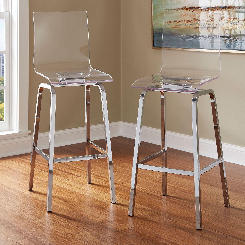 36 inch bar stools. Seneca Acrylic Bar Chair, Set Of 2 HomeHills Height (28 To 36 Inch) Stools Kitchen Inch