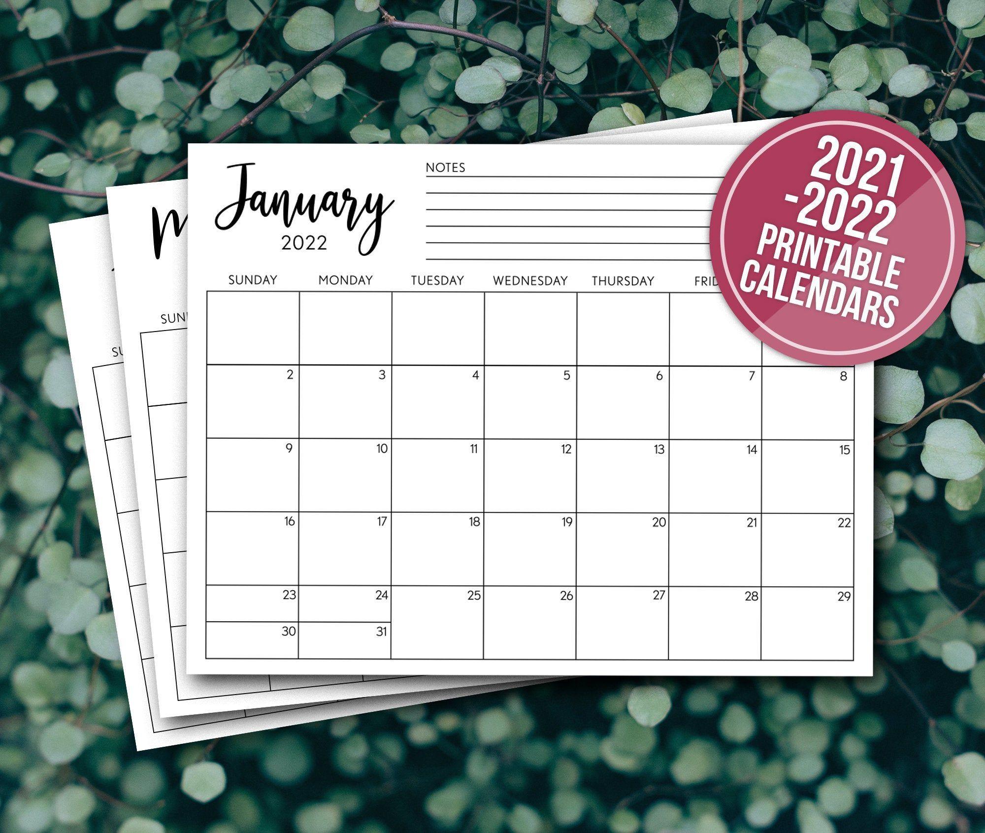 Printable Calendar 2022 Calendar Planner Insert Minimalist Calendar Pdf Minimal Monthly Calendar For Frame Planner Calendar Calendar Refills Planner Inserts