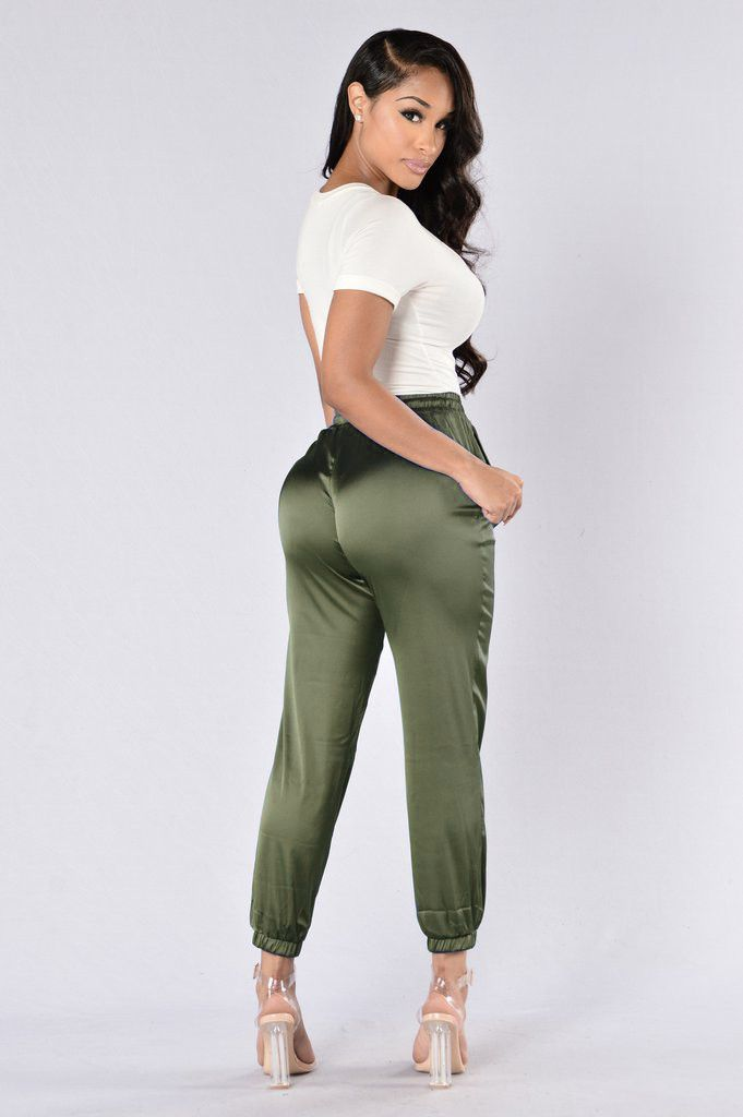 Nattemaid 2017 New Arrival Women Satin Pants Casual Loose -9779