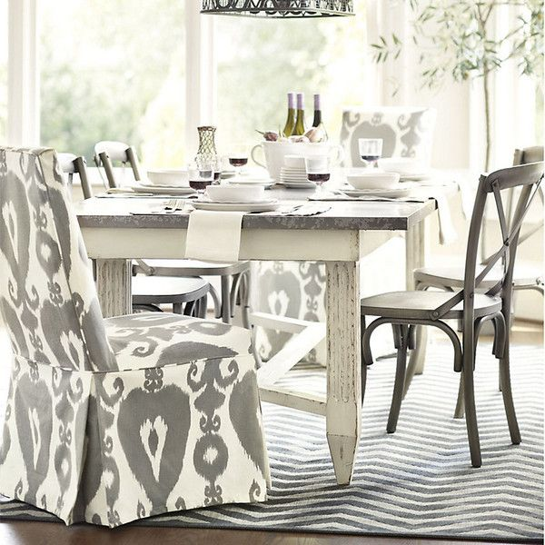 "Ballard Designs Messina Dining Table  92"" 10135 Hkd ❤ Liked Prepossessing Off White Dining Room Furniture Decorating Inspiration"