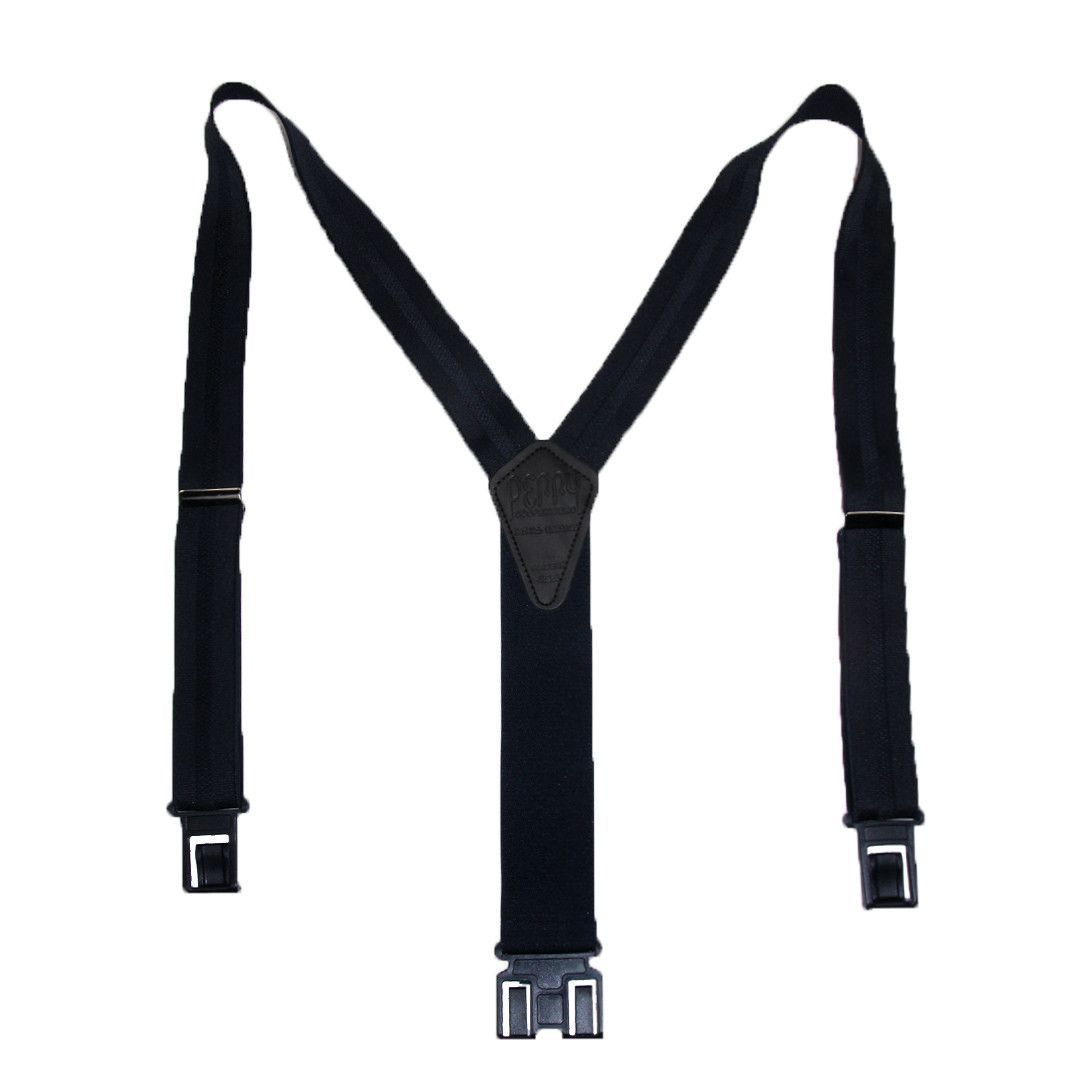 Perry Suspenders Mens Elastic Hook End Striped Dress Suspenders (Tall Available)