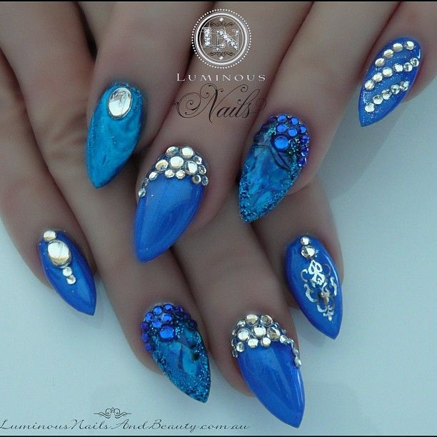 Pin By Lucy On Nails Pinterest Luminous Nails Jewel Nails And
