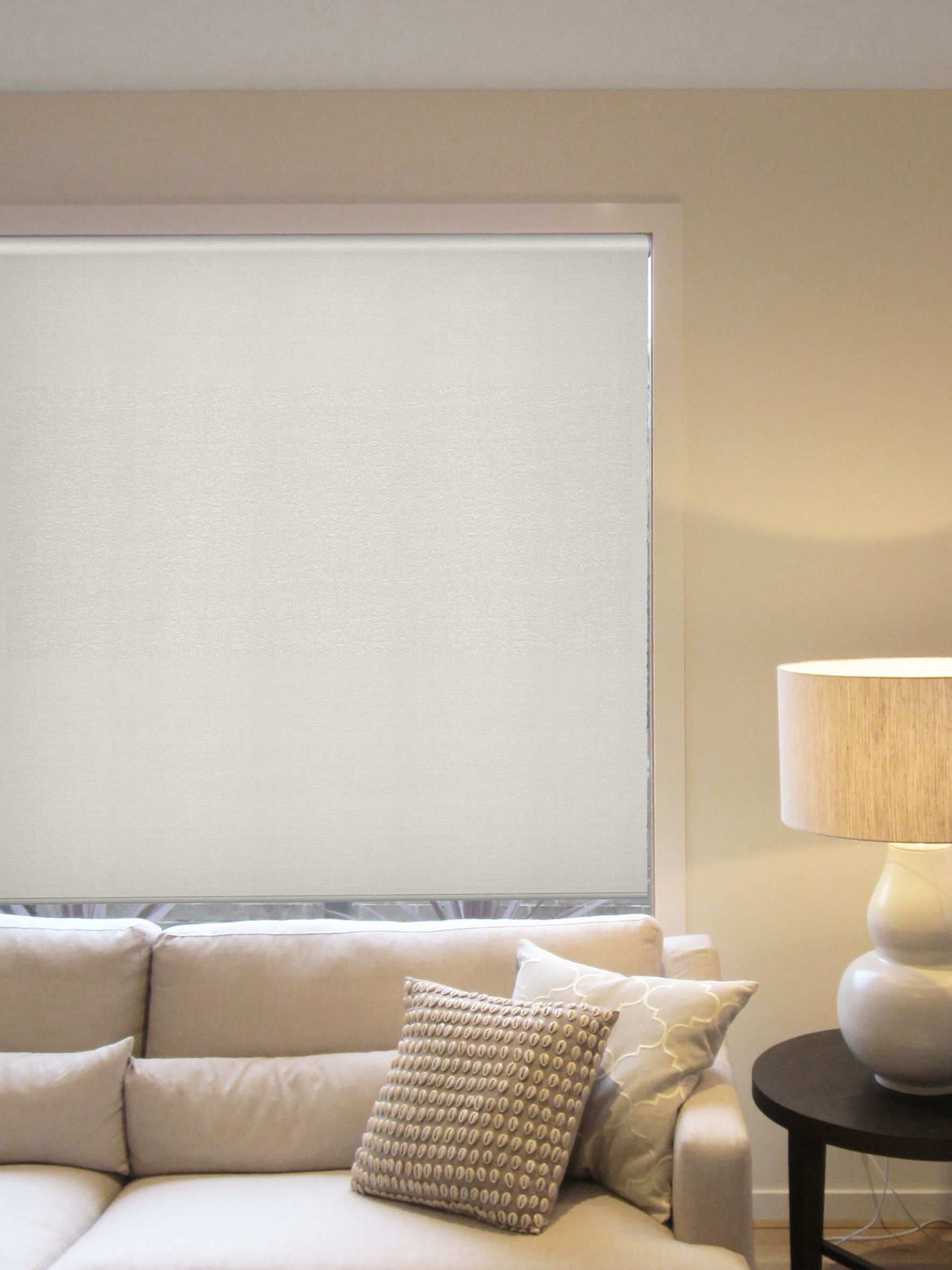 Omni Roller Blind White Control light and privacy with